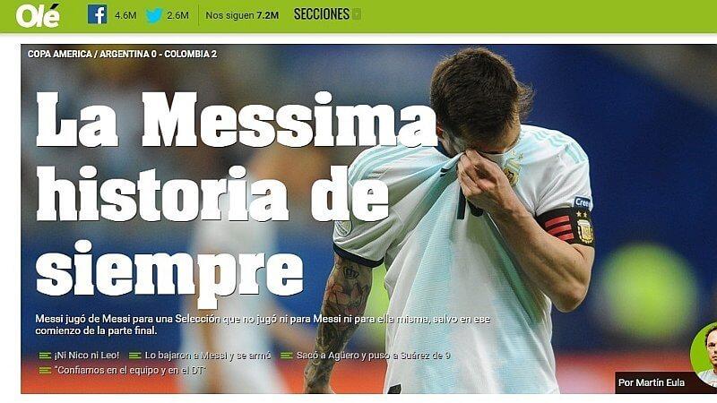 prensa argentina dispara a lionel messi